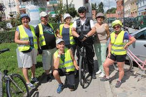 Pojechali rowerami z Bisztynka do Lidzbarka Warmińskiego