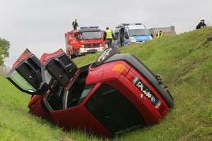 Audi dachowało na trasie Olsztyn - Barczewo. Jedna osoba ranna