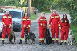 Pies ratownik, gdy szuka zaginionej osoby, bawi się w chowanego