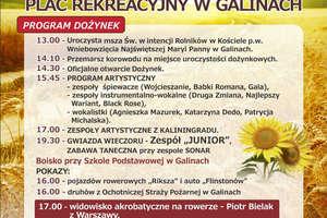 Dożynki gminy Bartoszyce odbędą się w Galinach