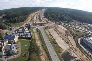 Tak wygląda budowa drogi ekspresowej S51 z Olsztyna do Olsztynka z lotu ptaka!