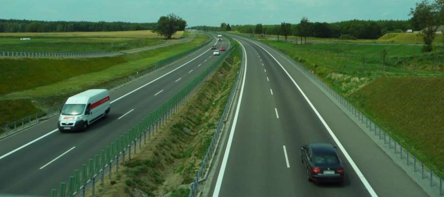 Tak wygląda odcinek DK16 na trasie Biskupiec - Borki Wielkie
