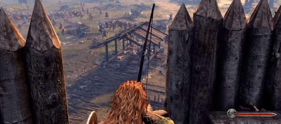 "Fragment nagrania ""Mount & Blade II: Bannerlord Gamescom 2016 Siege Defence Gameplay""."