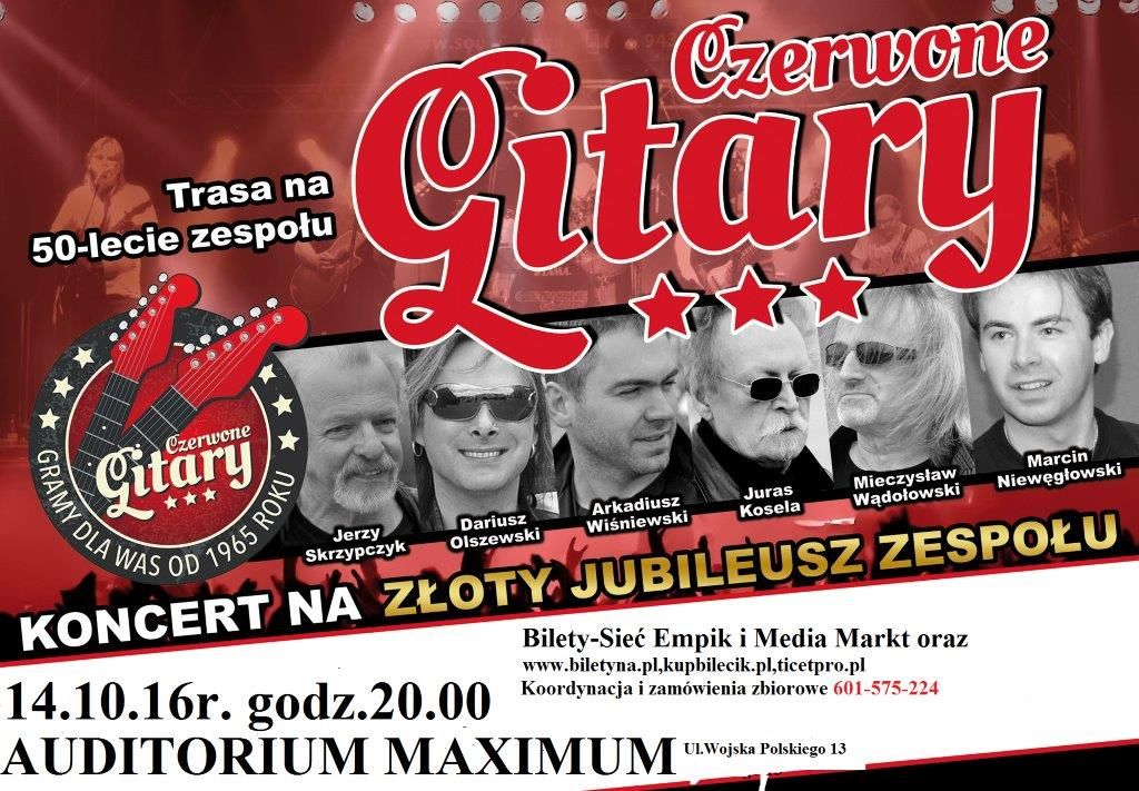 Czerwone Gitary w Olsztynie. Koncert na złoty jubileusz. Złap bilet!