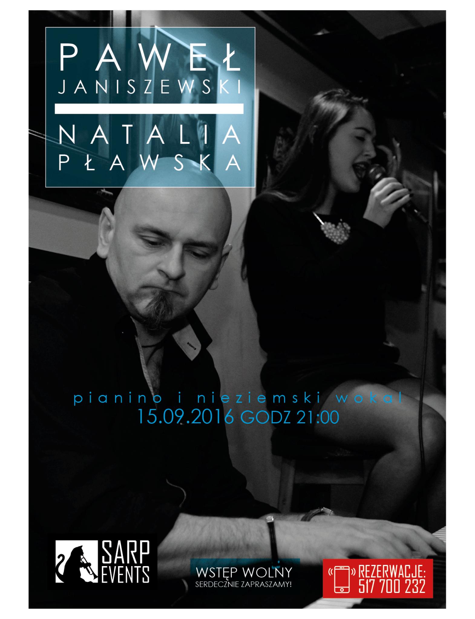 Sarp zaprasza: na scenie Paweł Janiszewski i Natalia Pławska