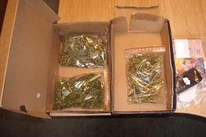 Blisko 150 porcji marihuany schowanej w pudełkach po butach