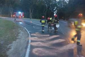 Podsumowanie tygodnia strażackiego: zderzenie samochodów osobowych w Mrągowie