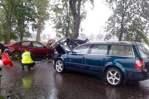 Zderzyły się cztery auta. Cztery osoby ranne