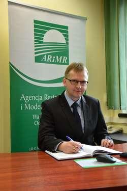 dr Marcin Kazimierczuk, zastępca dyrektora Warmińsko-Mazurskiego Oddziału Regionalnego Agencji Restrukturyzacji i Modernizacji Rolnictwa w Olsztynie.