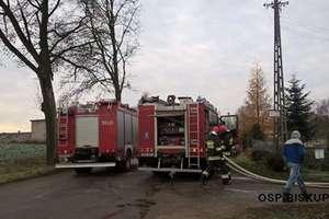 Trudny pożar w Podlasku