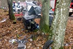 Podsumowanie tygodnia strażackiego: niebezpieczne zderzenie z drzewem