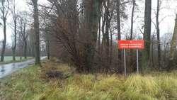 Tablica przed jednym z oznakowanych obszarów - Ostoją Warmińską