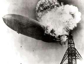 Eksplozja słynnego sterowca Hindenburg.