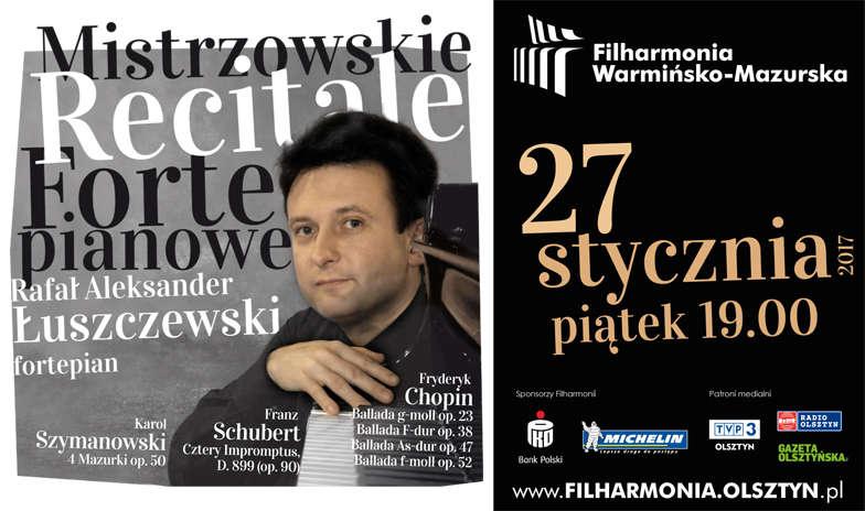 Mistrzowski Recital Fortepianowy w Filharmonii – Chopin, Schubert, Szymanowski - full image