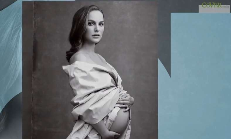Ciążowa sesja zdjęciowa Natalie Portman w Vanity Fair - full image