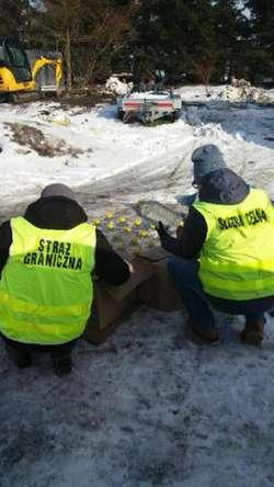 200 litrów spirytusu znaleziono na posesji w Milejewie