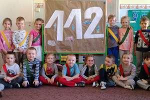 Krasnale z przedszkola integracyjnego obchodziły Dzień Numeru Alarmowego 112