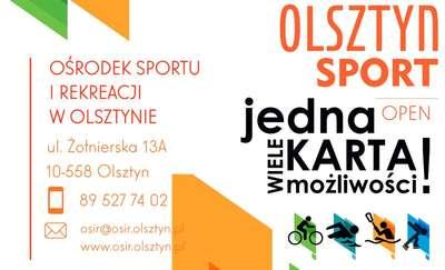 Z tą kartą aktywnie przez cały rok w Olsztynie