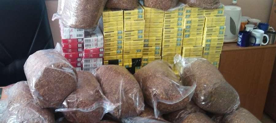 Wyroby tytoniowe znalezione u zatrzymanej.
