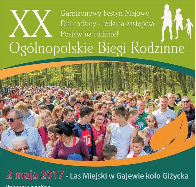 2 maja zapraszamy na Ogólnopolskie Biegi Rodzinne