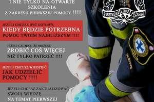 Pierwsza pomoc dla każdego. Strażacy zapraszają na szkolenie