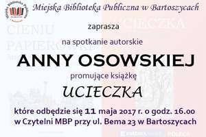 Anna Osowska opowie o swej