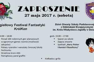 Jagiełłowy Festiwal Fantastyki KrólKon i Dzień Otwarty Szkoły Podstawowej nr 1 w Działdowie