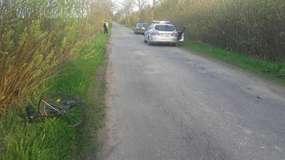Kolizja z pijanym rowerzystą na trasie Turcz-Smolanka