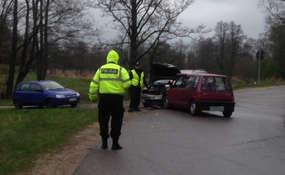 Wypadek na trasie Zięby - Pluty
