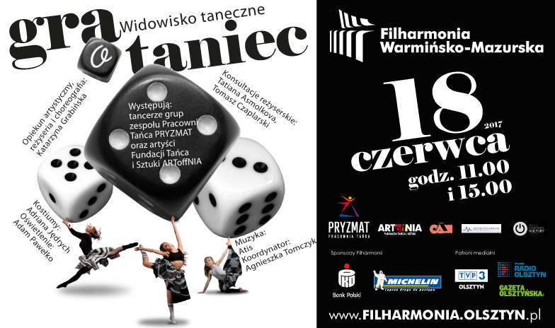 """""""GRA o taniec"""" w Filharmonii Warmińsko-Mazurskiej w Olsztynie - full image"""