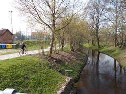 Ścieżka rowerowa nad rzeką Dymer w Biskupcu