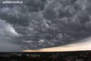 Burze z gradem dotarły nad Olsztyn i region [ZDJĘCIA CZYTELNIKÓW]
