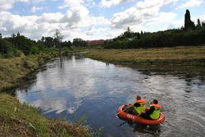 Policjanci szukali na rzece Łynie zaginionej kobiety