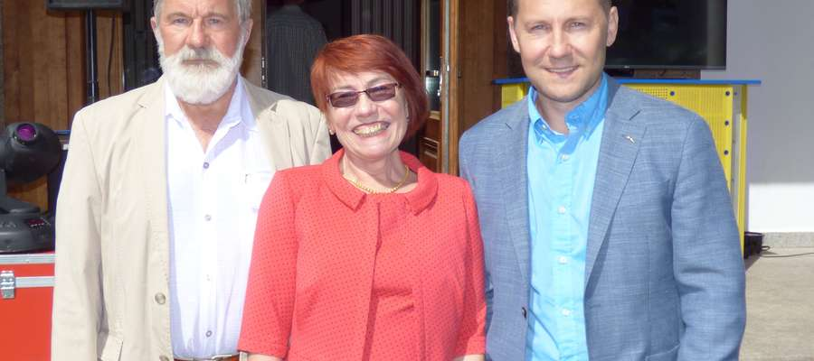 Założyciele firmy Lubas Poliuretany - Krystyna i Wiesław Lubasowie z synem Mariuszem