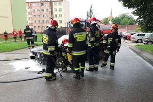 Pożar samochodu na Osiedlu Robotniczym