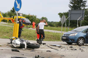 Kierowca citroena wjechał w grupę motocyklistów. Zginął 29-letni mieszkaniec Olsztyna