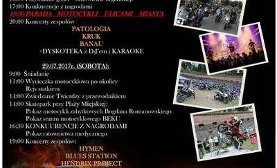 XXI Zlot Motocykli - parada ulicami Giżycka
