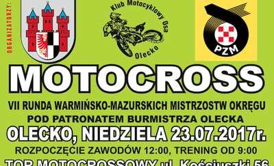 Zawody motocrossowe w Olecku