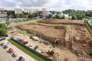 Na budowie największego wieżowca w Olsztynie praca wre [ZDJĘCIA i FILM]