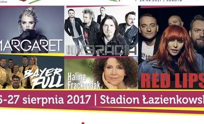 Bayer Full, Margaret, Halina Frąckowiak, Bracia i Red Lips na Dniach Lubawy 2017!