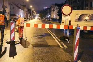 Drogowcy zamknęli fragment ulicy Partyzantów [ZDJĘCIA, FILM]
