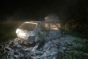 Pożar samochodu przy ul. Ełckiej