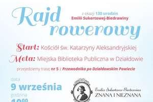 Rajd rowerowy z okazji 130. rocznicy urodzin Emilii Sukertowej-Biedrawiny