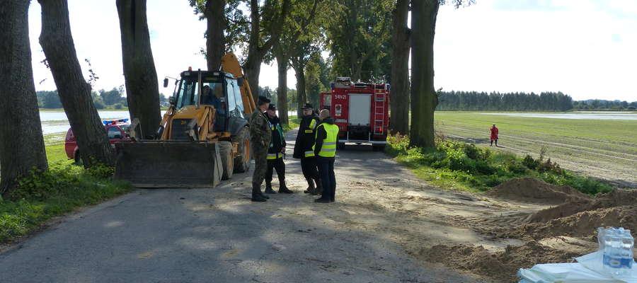 Strażacka akcja w miejscowości Rzeczna