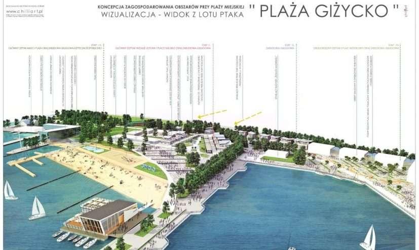 Projekt zagospodarowania plaży miejskiej w Giżycku