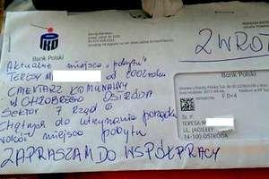 Bank wysyła listy do zmarłych. Bliscy w szoku