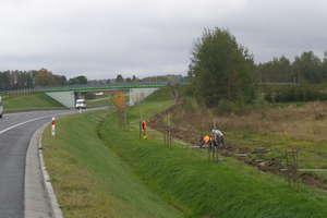 Nowe ogrodzenie wzdłuż drogi pod Olsztynem. Ma chronić przed wypadkami ze zwierzętami