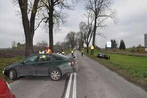 Wypadek drogowy z udziałem dwóch osobówek
