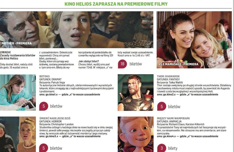 Kino Helios zaprasza. Mamy dla Was bilety! - full image