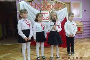 11 listopada w pamięci przedszkolaków - Uroczystość Święta Niepodległości w Przedszkolu Miejskim nr 4 w Działdowie